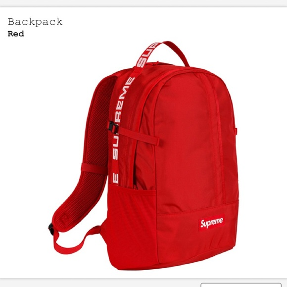 c40280a11766 Supreme SS18 red backpack